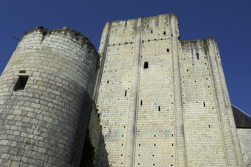 城堡loches 免版税库存图片