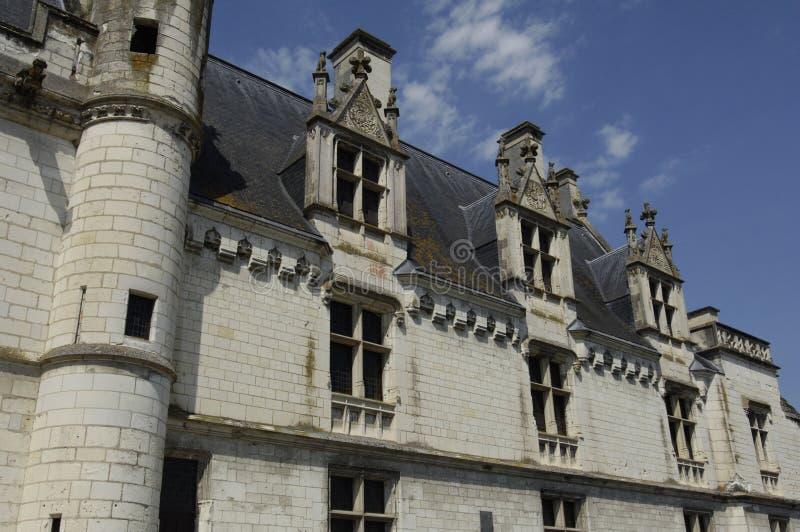 城堡loches 免版税库存照片
