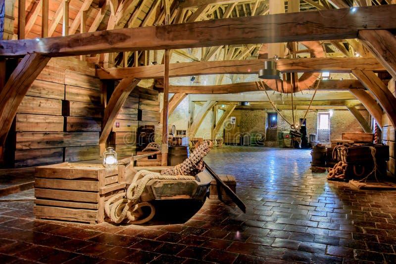 城堡Loevestein,海尔德兰省,荷兰 免版税库存图片