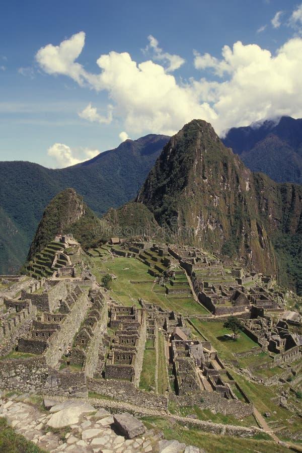 城堡machu秘鲁picchu视图 免版税库存图片