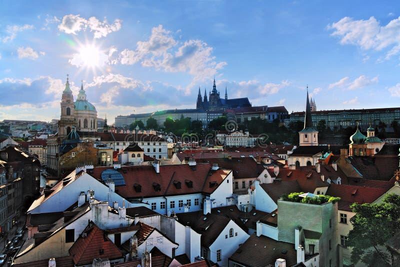 城堡mala布拉格strana视图 库存图片