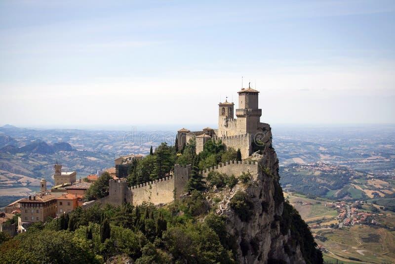 城堡marino圣 免版税图库摄影