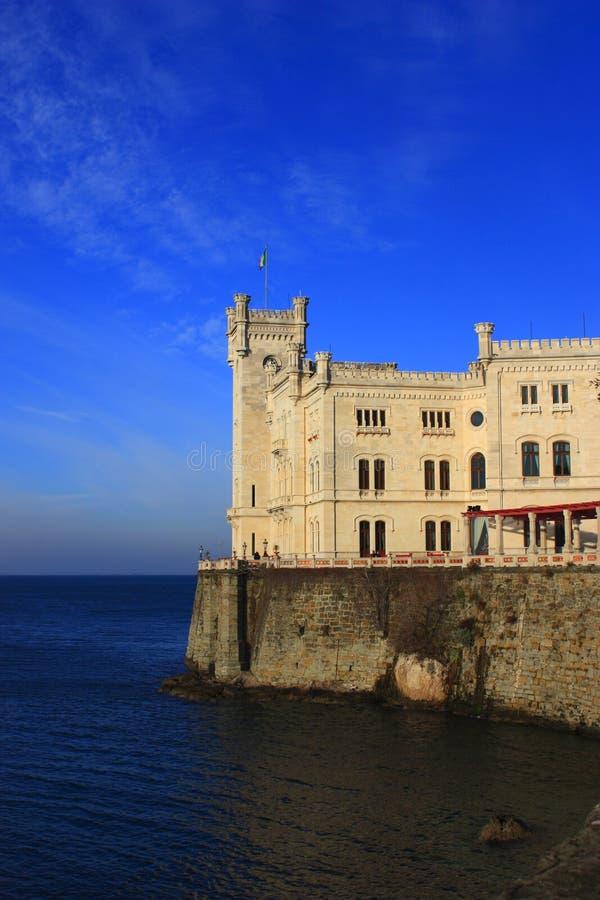 城堡miramare 库存照片