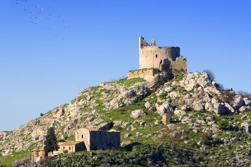 城堡mongialino s 免版税库存照片
