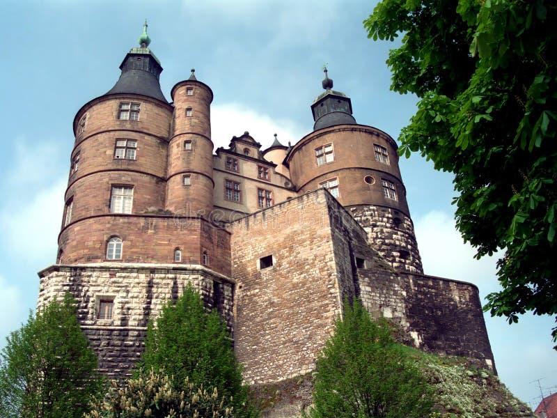 城堡montbeliard 免版税库存图片