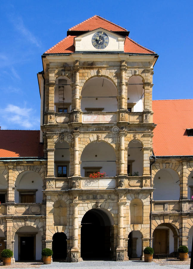 城堡moravska trebova 库存照片