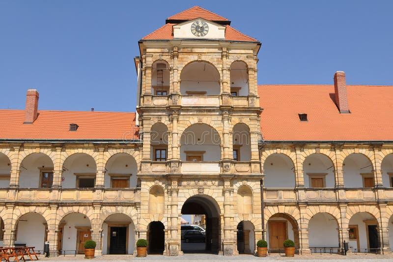 城堡moravska trebova 免版税图库摄影