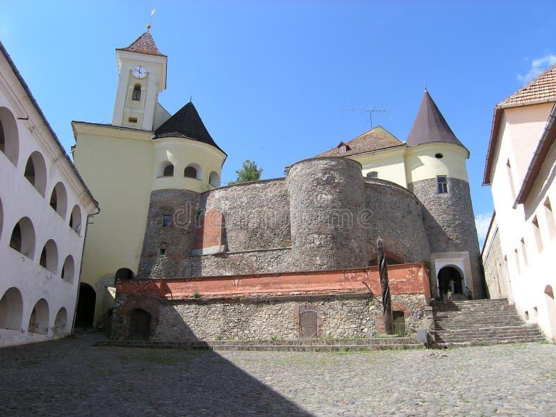 城堡mucachevo乌克兰 库存图片