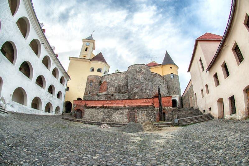城堡mukachevo palanok乌克兰 免版税库存图片