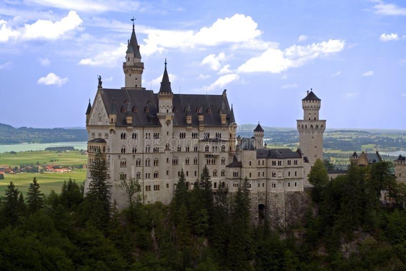 城堡neuschwanstein 库存照片