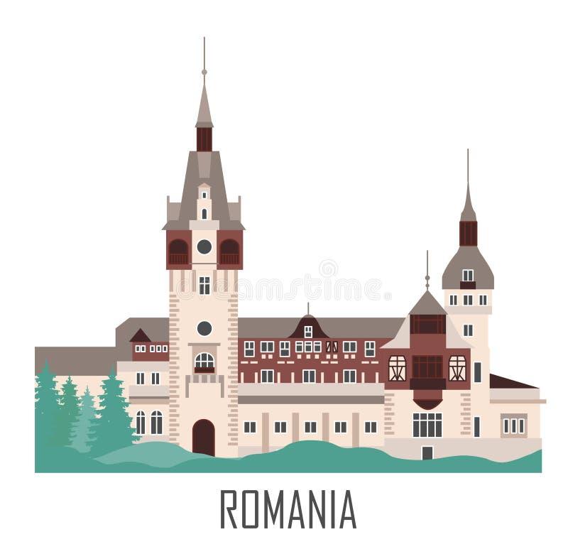城堡peles罗马尼亚 向量例证