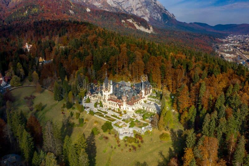 城堡peles罗马尼亚sinaia 图库摄影