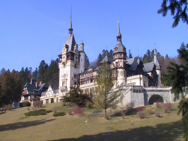 城堡peles 库存图片