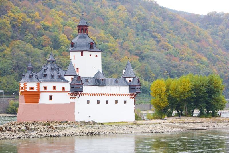 城堡pfalzgrafenstein 免版税库存图片