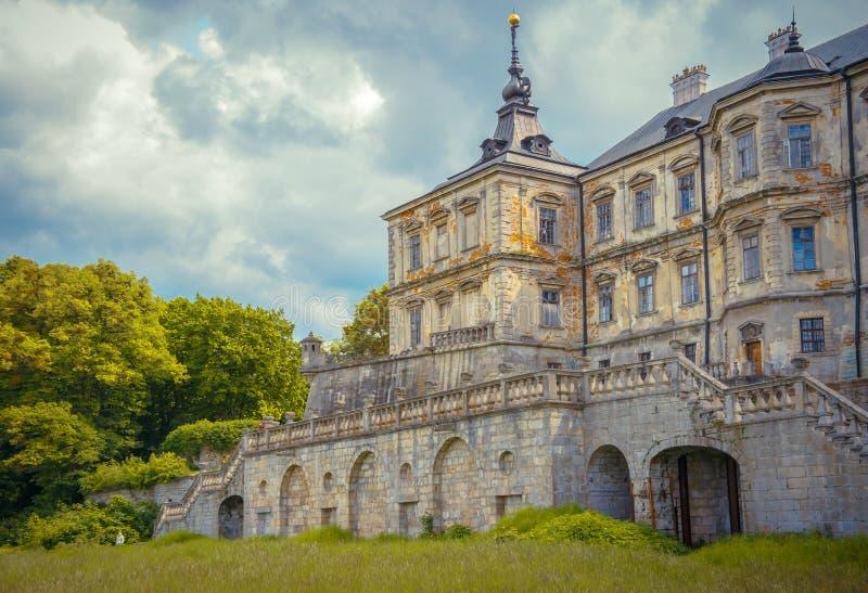 城堡Podgoretsky的看法 免版税库存图片