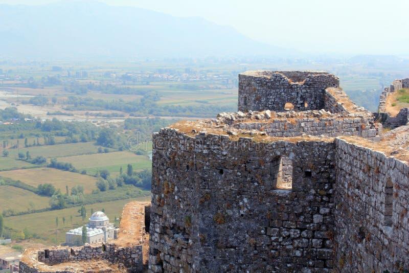 城堡rozafa 库存图片