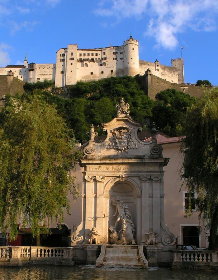 城堡s萨尔茨堡 免版税库存照片