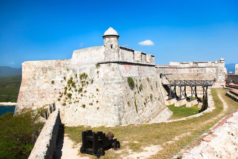 城堡San Pedro de la Roca del Morro 库存图片