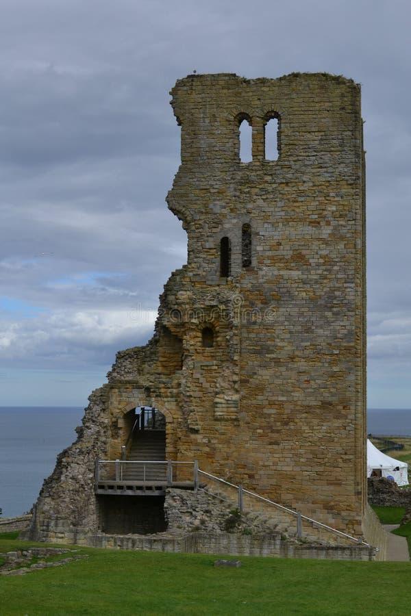 城堡scarborough 免版税库存图片