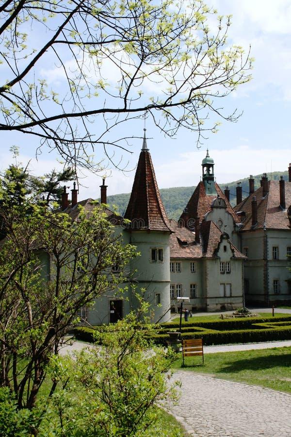 城堡Schoenborn 免版税库存图片