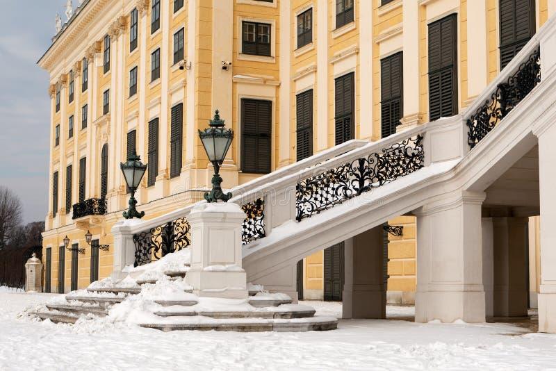 城堡schonbrunn楼梯 库存照片