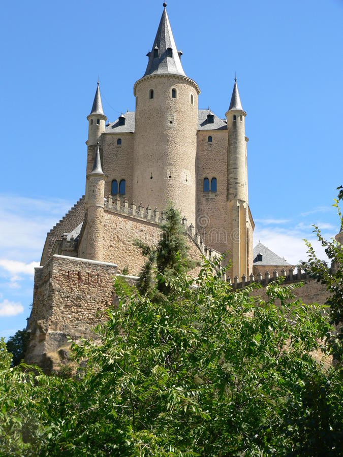 城堡segovia西班牙 免版税库存照片