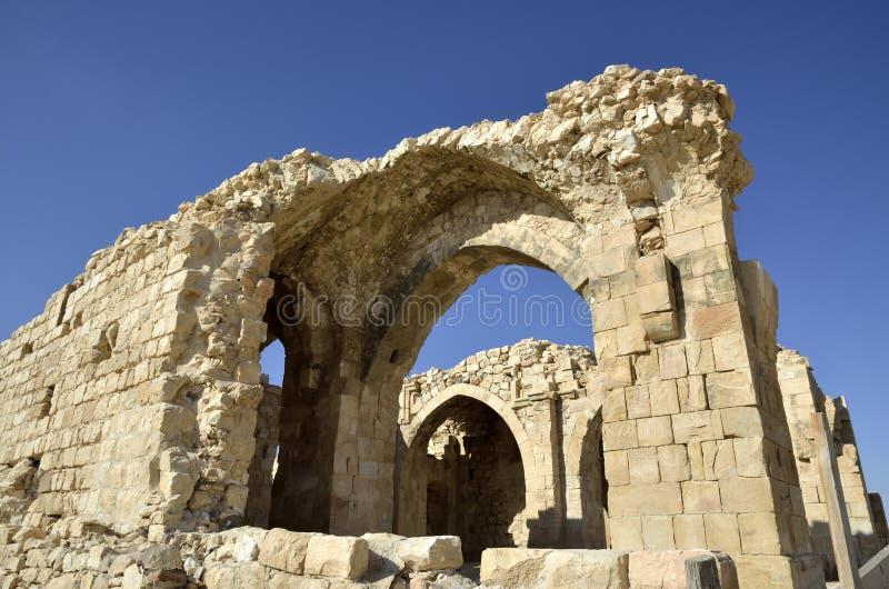 城堡Shobak老废墟。 库存图片