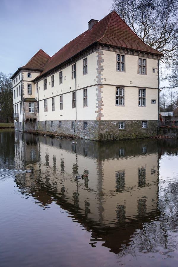 城堡struenkede黑尔讷德国 免版税图库摄影