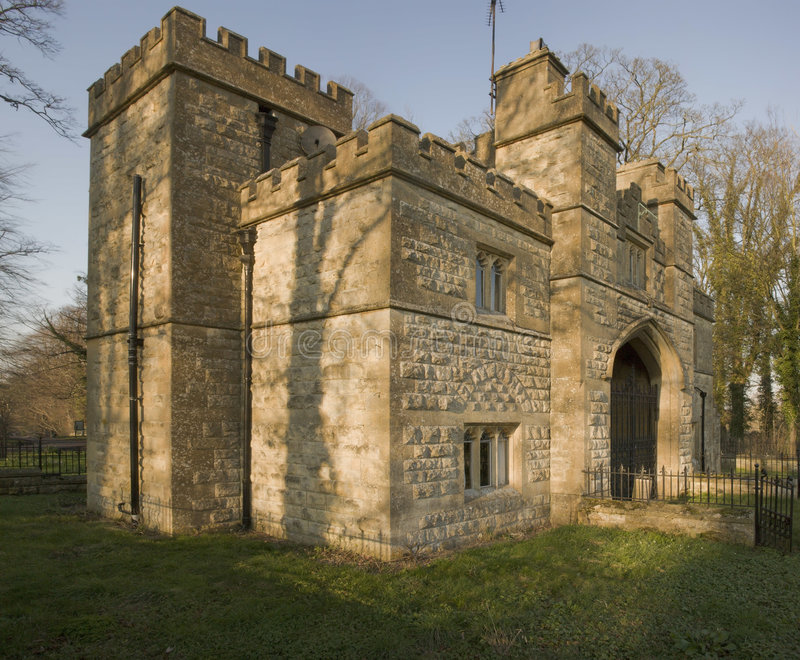 城堡sudeley 库存照片