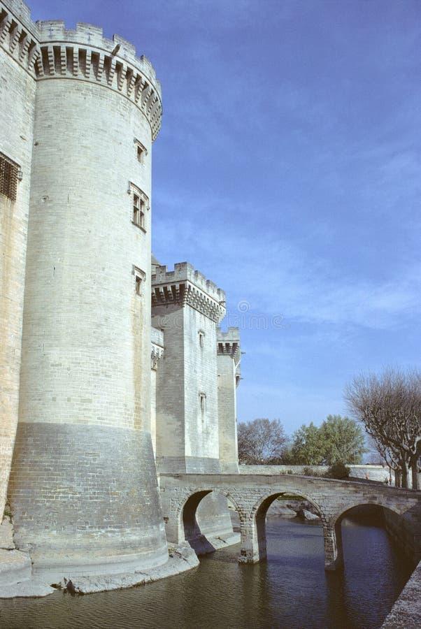 城堡tarascon 免版税库存照片