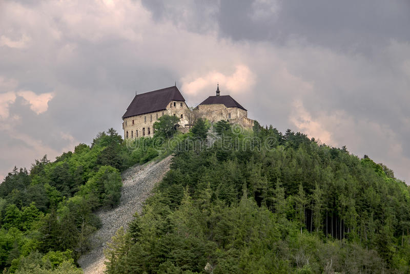 城堡ToÄ  nÃk 免版税库存照片