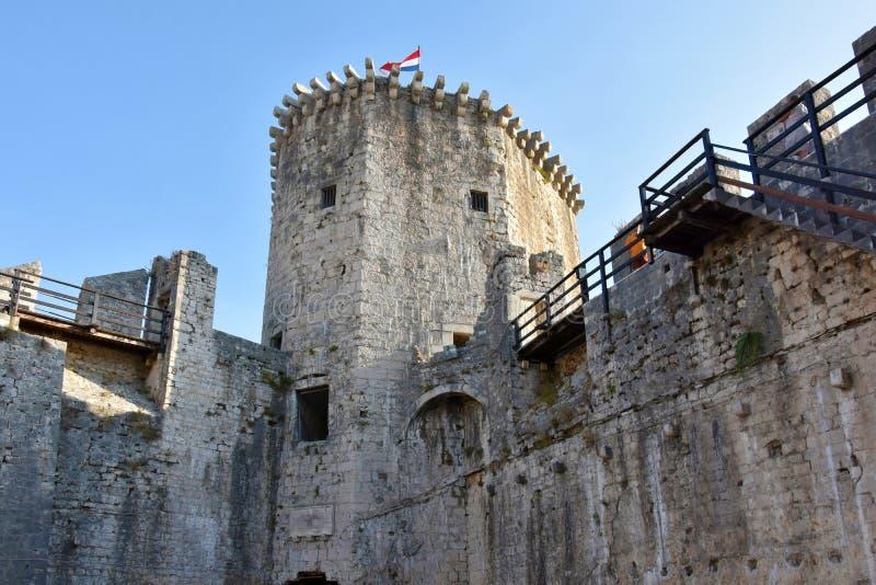 城堡trogir 库存照片