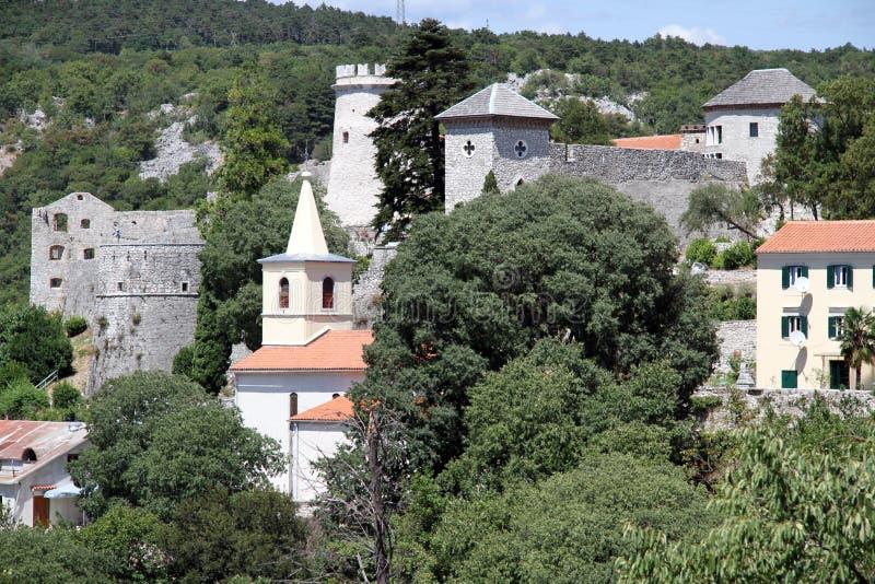 城堡Trsat 库存图片