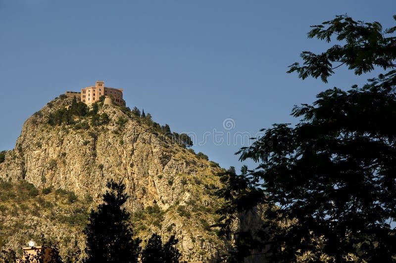 城堡utveggio 免版税库存照片