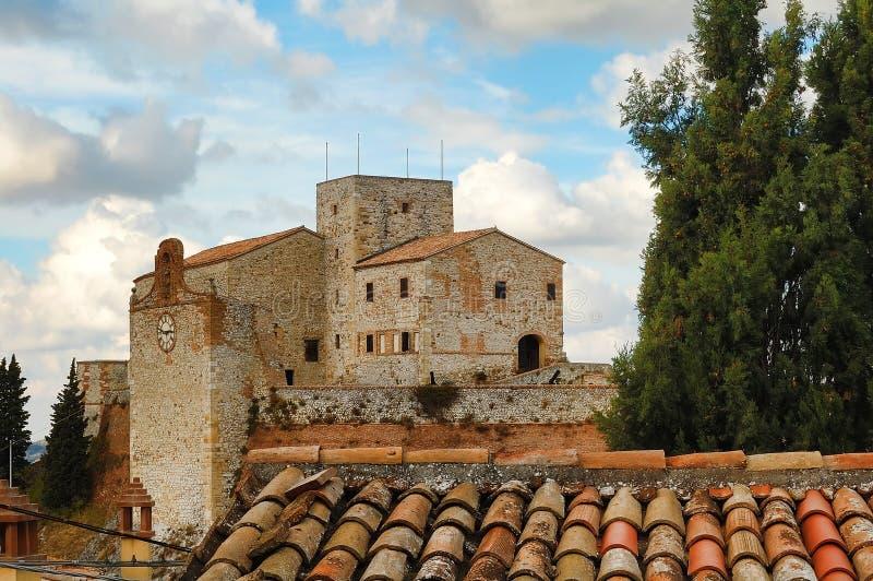 城堡verucchio 库存照片