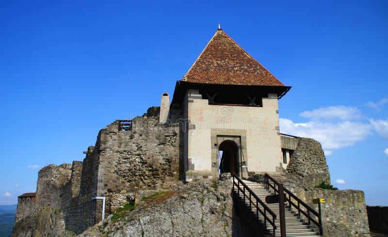 城堡visegrad 免版税图库摄影