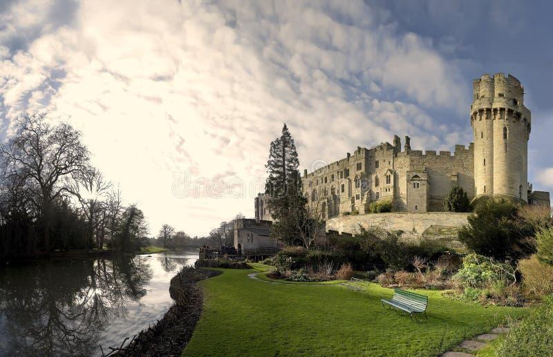 城堡warwick 免版税图库摄影
