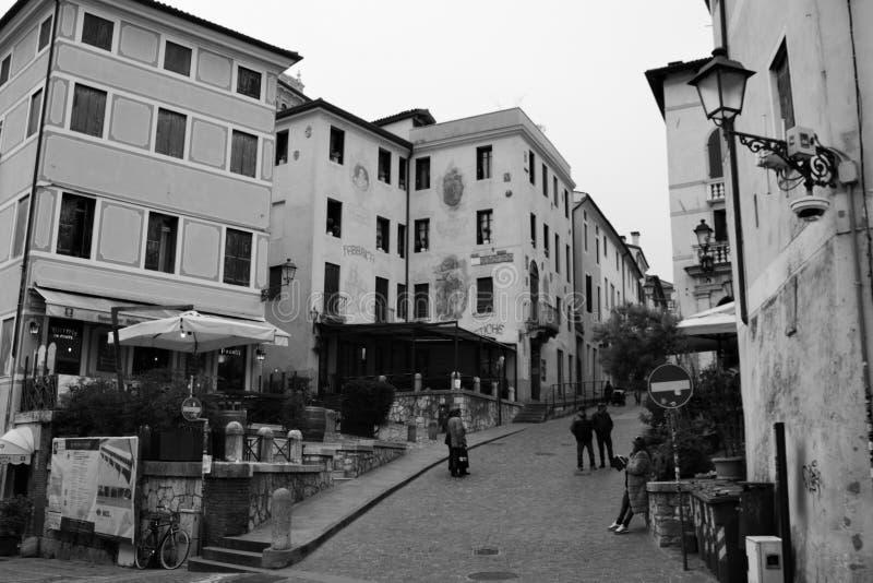 城市bassano del grappa  免版税库存图片