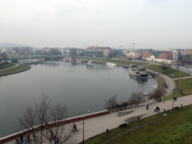 城市†‹克拉科夫†‹ 波兰古老街道、宽容大教堂和中世纪堡垒风景  免版税库存图片