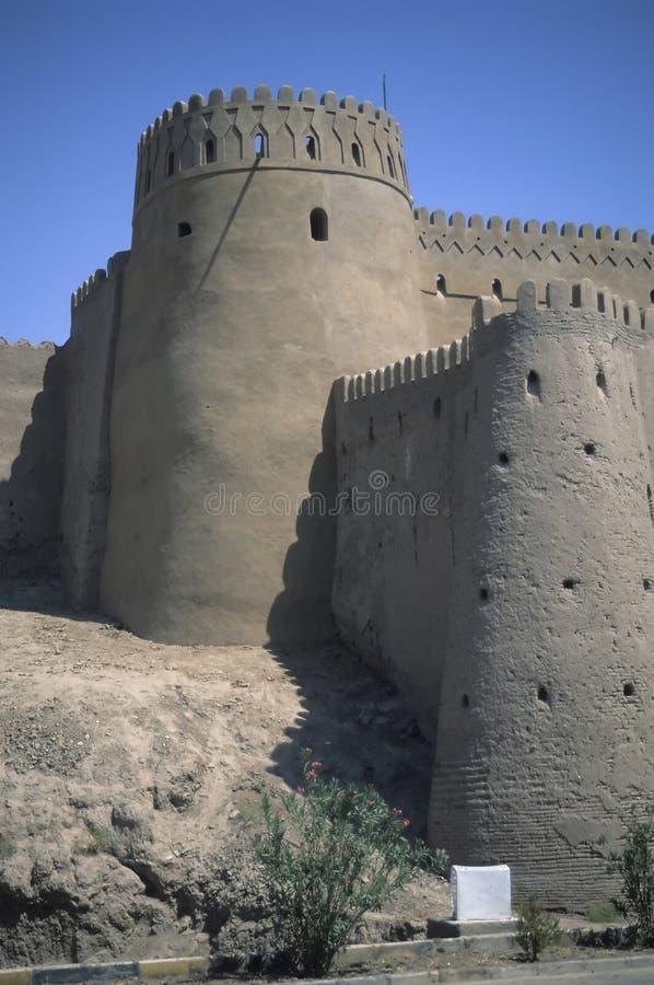 城市中世纪外面塔墙壁 免版税库存照片