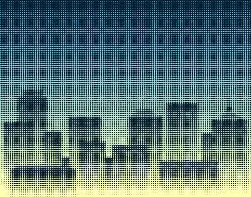 城市中间影调 库存例证