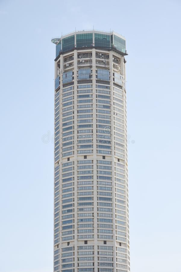 城市乔治城komtar马来西亚塔视图 免版税库存图片