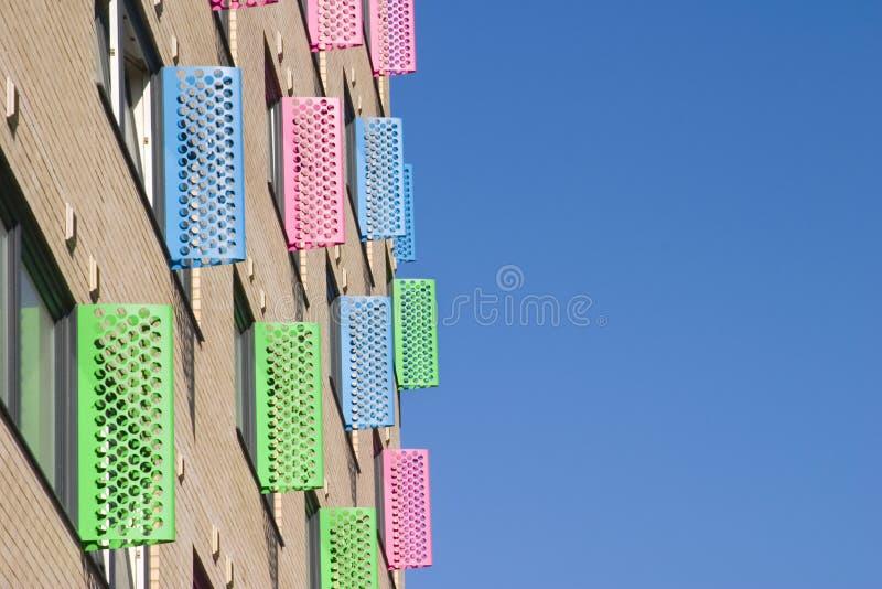 城市五颜六色的利兹视窗 免版税库存照片