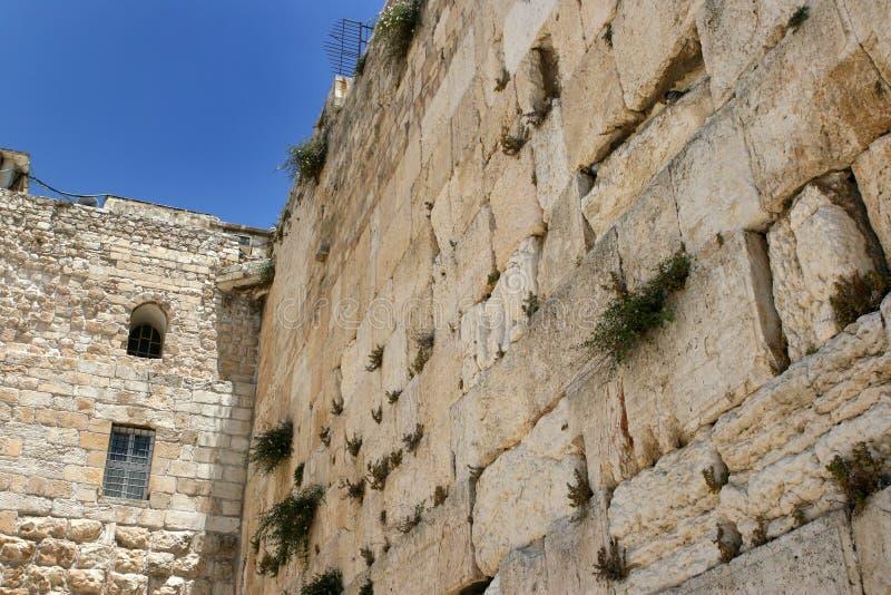 城市以色列耶路撒冷老哭墙 库存照片