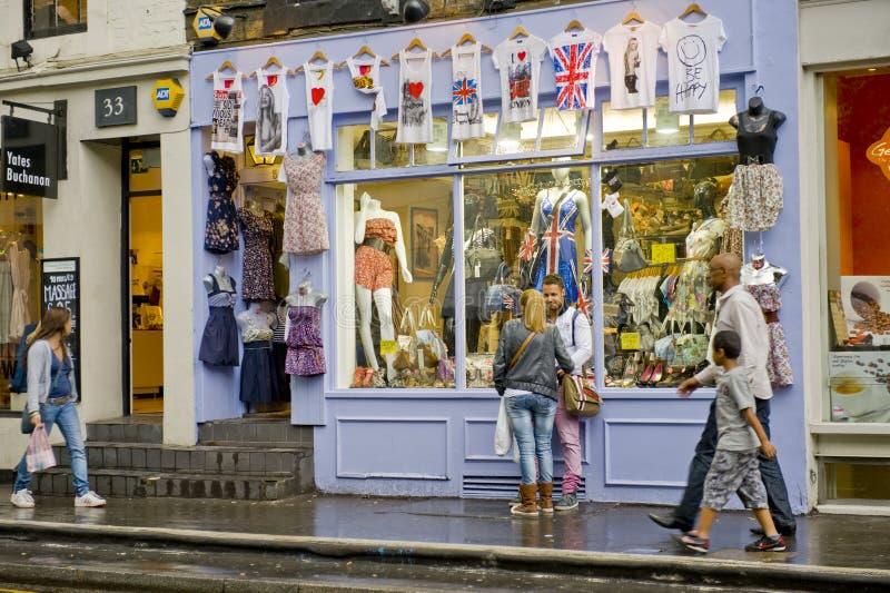 城市伦敦购物 免版税库存照片