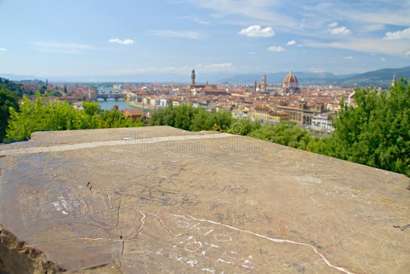 城市佛罗伦萨视图 库存图片