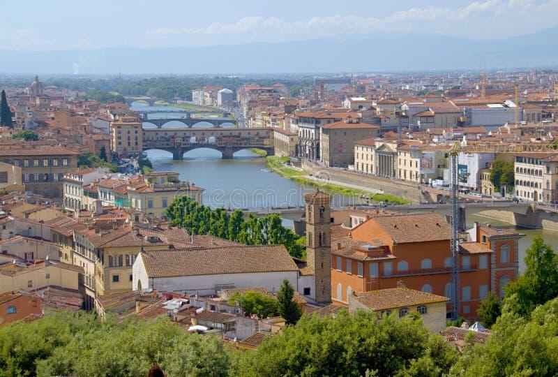 城市佛罗伦萨视图 免版税库存照片