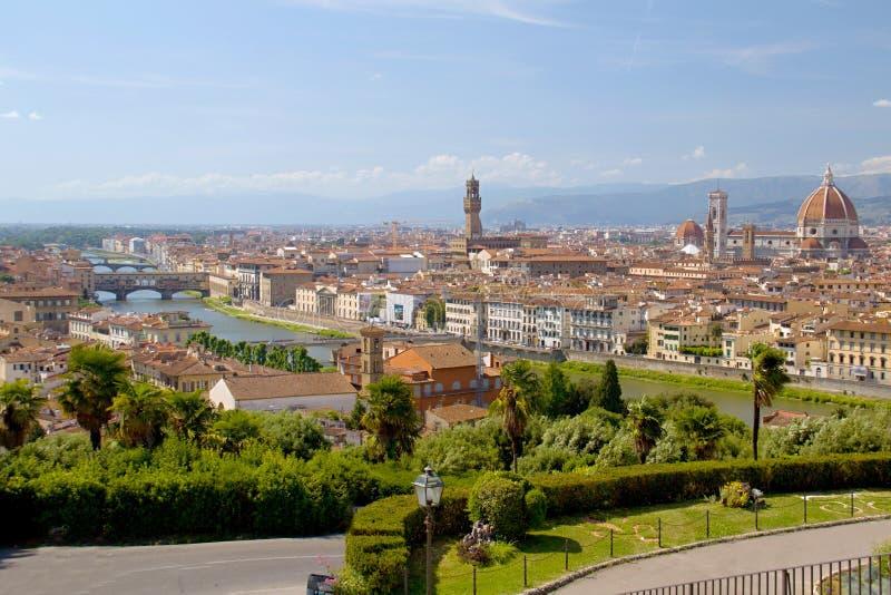 城市佛罗伦萨视图 免版税图库摄影