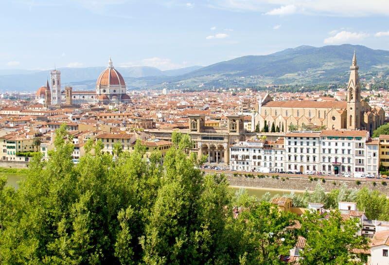 城市佛罗伦萨视图 免版税库存图片