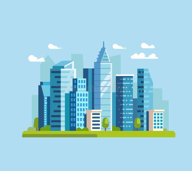 城市使传染媒介环境美化 库存例证